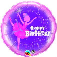 Happy Birthday Ballerina Foil Helium Balloon